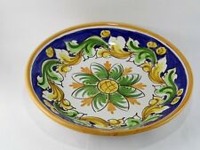 Piatto ciotola insalatiera scodella fruttiera in ceramica di Caltagirone D.20 cm