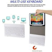 For iPad 10.2 Leather Case Backlit Bluetooth Wireless Pen With Slot Keyboar N0T9