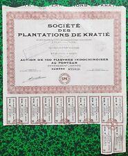 Ex Indochine Fçse & Djibouti - Kratié - Exploitation de Caoutchouc du 30/10/1956