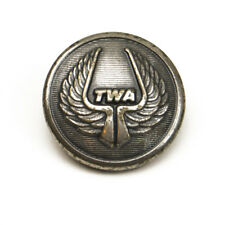 Vintage TWA Airlines Metal Replacement Uniform Sleeve Pocket button .60""