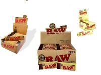 RAW ORGANIC AND CLASSIC KING SIZE SLIM ROLLING PAPERS RAW TIPS FULL BOX 50 UK
