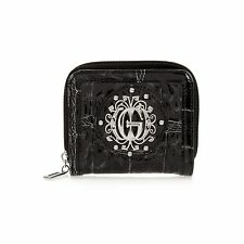 ..GUESS ..FOLKLORE BIFOLD COIN PURSE-BLACK-INCREDIBLY CUTE!***BLOW OUT*** !!!