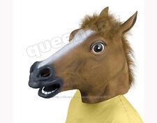 Latex Rubber Horse Head Mask Creepy Halloween Costume Gangnam Style Dance Prop
