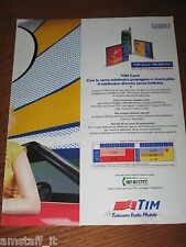 *AO33=TIM TELECOM ITALIA MOBILE=PUBBLICITA'=ADVERTISING=WERBUNG=COUPURE=