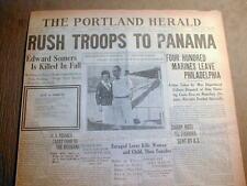 BEST 1921 display headline newspaper US MARINES sent to PANAMA to quell unrest