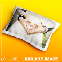 Personalised Photo Pillowcase Cushion Pillow Case Cover Present Custom Print