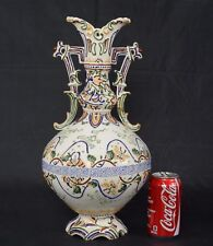 "Antique 16 3/4"" 42.5cm Japanese Moriage Dragonware Vase"