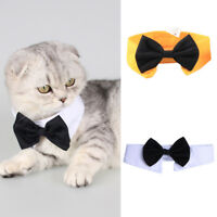 Dog Cat Pet Puppy Kitten Lattice Fashion Bow Tie Clothes Adorable Necktie Collar
