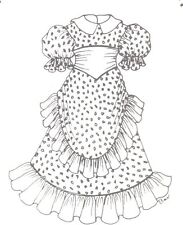 "Sewing Pattern fits 15-16"" Doll dress Shirley designs Bjd 221"