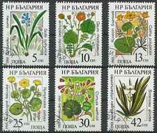 Timbres Flore Bulgarie 3140/5 o lot 18115