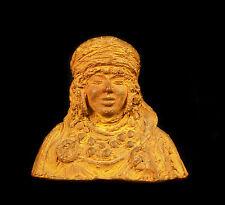 Buste de jeune femme musulmane c 1900 en terre cuite sculpture orientaliste 10cm