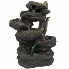 Home Indoor 6-Tier Tabletop Fountain Waterfall With Multicolor LED Lights