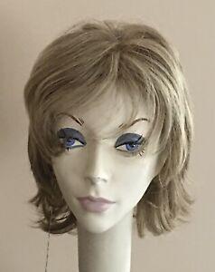 NWT! JACQUELYN Wig HUMAN HAIR Blend Color 118 Blonde Mix Monofilament Top