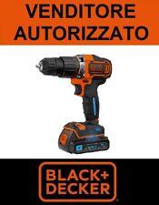Trapano Avvitatore A BATTERIA BLACK+DECKER 18V Bluetooth +borsa BDCHD18KST-QW