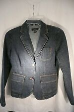 IZOD JEANS WOMENS Blue Cotton Stretch Denim Jacket Size Small Pre-Owned