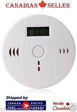 Carbon Monoxide Detector Gas Sensor Unit LCD CO Alarm Tester White Poisoning