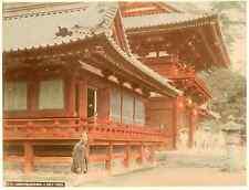 Japon, Kamakura Hachiman, a Sinto Temple Vintage albumen print, Japan Tira