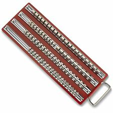 """80pc Socket Rack Tray Holder Metal Rail for 1/4"""" 3/8"""" 1/2"""" inch Drive Sets"""