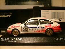 VERY RARE MINICHAMPS 1/43 FORD SIERRA RS500 TEAM GRAB DTM 1989 FRANK BIELA NLA