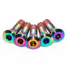 5x Suzuki Gsxr750 K1 K2 K3 Rainbow Titanium Rear Disc Rotor Bolts, Threadlock