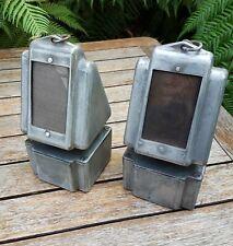 A Pair Of Vintage Nesthill Cast Alloy Paraffin Kerosene Lamp Engine Sump Heaters