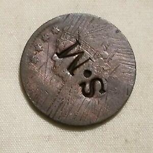 SM Countermark 1809-1836 Classic Half Cent Copper Coin