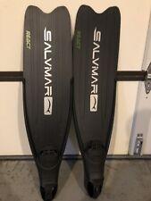 Salvimar React Fins, Black, 8-9 Foot Pocket. Free dive Fins.