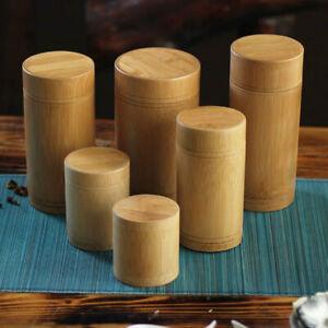 Holder Jar Bottle Handmade Bamboo Tea Canister Container Storage Box Organizer