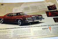 Pontiac Grand Prix 1976 magazine clippings advertisement ad