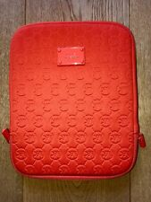 MICHAEL KORS ORANGE SIGNATURE FABRIC IPAD CASE - NEW