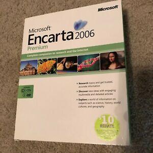 Brand New! - MICROSOFT ENCARTA PREMIUM 2006 ENCYCLOPEDIA: WINDOWS OS 6 CDS 1 DVD