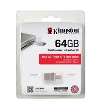 Kingston 16GB 32GB 64GB 128GB MicroDUO 3C USB 3.1 OTG Type-C Flash Chiavetta IT