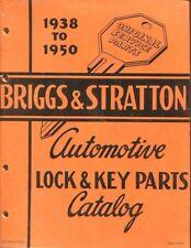 Briggs & Stratton car lock & key CATALOG manual 1939 - 1950 FULLY ILLUSTRATED
