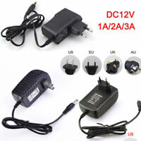 Charger AC/DC Adapter 100-240V Power Supply 5V 1A 2A 3A For LED Strip Light