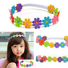 NEW Cute Baby Kids Girl Colorful Flowers Hair band Lace Sunflower Band Headband