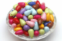 50 pcs Acrylic Colorful Spacer Beads Slippy Charms Findings 7.5*12mm Loose Beads