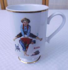 "Norman Rockwell ""Leapfrog"" Coffee/Tea Mug - Danbury Mint 1981"
