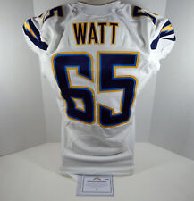 2014 San Diego Chargers Chris Watt #65 Game Issued White Jersey