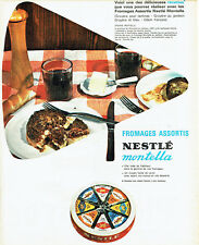 Publicité Advertising 098  1962   fromages assortis Nestlé  Montella