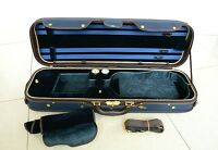 Luxury&Royal Wooden Violin Case Sturdy&Durable 3.2kg Blue Color Free Shipping