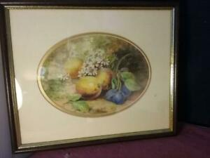 Lovely W H Austin (1891- 1971) Royal Worcester Artist  Signed  Study Of Fruit
