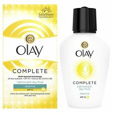 Olay 3-in - 1 Giorno Leggero SENSIBILI FLUIDO SPF15 Essentials Complete Care 100ml