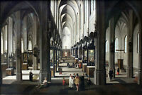 "oil painting handpainted on canvas ""Interior of the Antwerp Cathedral """
