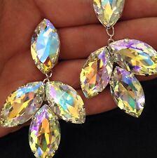 Northern Lights Acorn Clip On Earrings. Drag Ballroom Dancer Diamanté Wedding