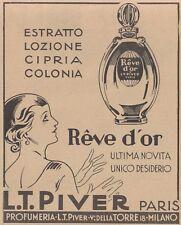 V0600 Reve d'Or - L.T. Piver Paris - Pubblicità d'epoca - 1931 old advertising