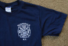 SCARSDALE NY FIRE DEPT blue short sleeve size S