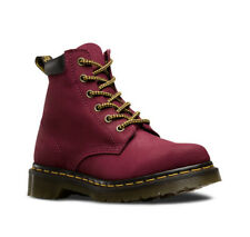 Dr. Martens 939 6-eye Hiker Deep Red Suede Leather Boots ~ Sz US Women 8 8.5