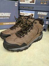 NEW Khombu Mens Oliver Work Boots Brown Hiking All Weather Lightweight Pick Size