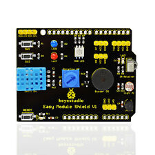 NEW! keyestudio Multi-purpose Shield V1DHT11 Rotation Buzzer RGB LED for Aduino