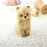 Hamanaka - Japanese Crafts Wool Needle Felting Kit - Dog Pomeranian